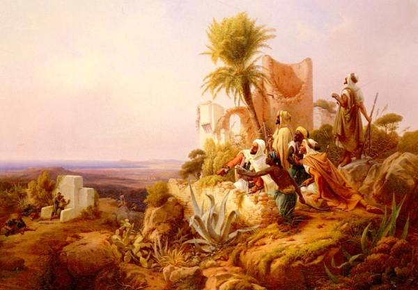 Arabs In A Hilltop Fort